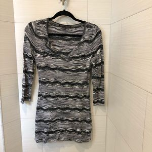 VGUC WHBM black and silver tunic sweater